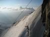 Abstieg vom Aiguille du Midi - Mont Blanc